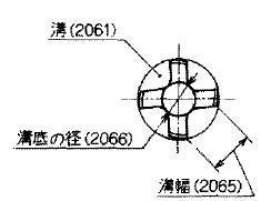 溝・溝幅・溝底の径