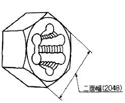 二面幅(六角ダイスの場合)